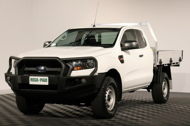 Used Ford Ranger PX MkII XL Super Cab, 2015 Ford Ranger PX MkII XL Super Cab Cool White 6 Speed Manual Cab Chassis