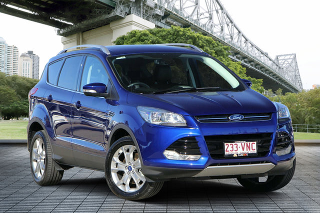 Used Ford Kuga TF MY15 Trend AWD, 2014 Ford Kuga TF MY15 Trend AWD Blue 6 Speed Sports Automatic Wagon
