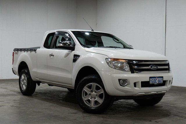 Used Ford Ranger PX XLT Super Cab, 2012 Ford Ranger PX XLT Super Cab White 6 Speed Sports Automatic Utility