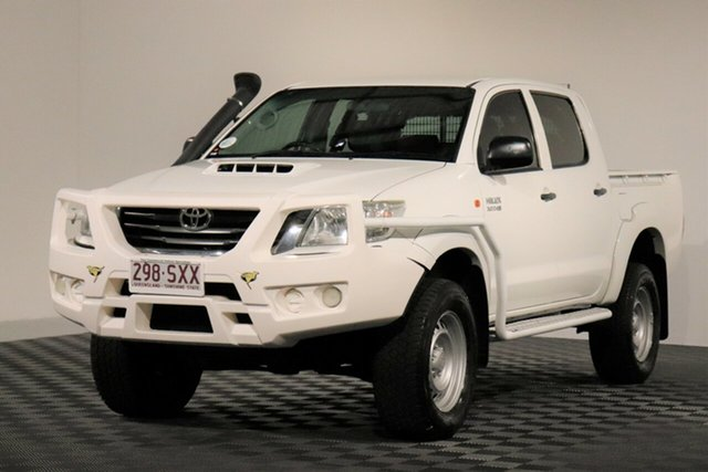 Used Toyota Hilux KUN26R MY12 SR Double Cab, 2012 Toyota Hilux KUN26R MY12 SR Double Cab Glacier 5 Speed Manual Utility