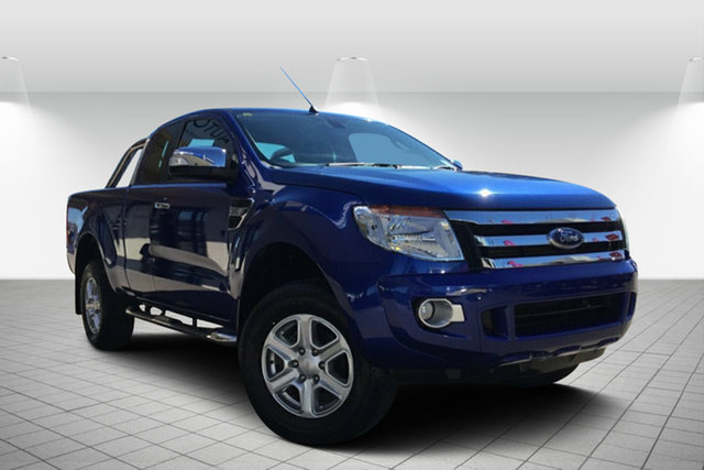 Used Ford Ranger PX XLT Super Cab, 2014 Ford Ranger PX XLT Super Cab Blue 6 Speed Manual Utility
