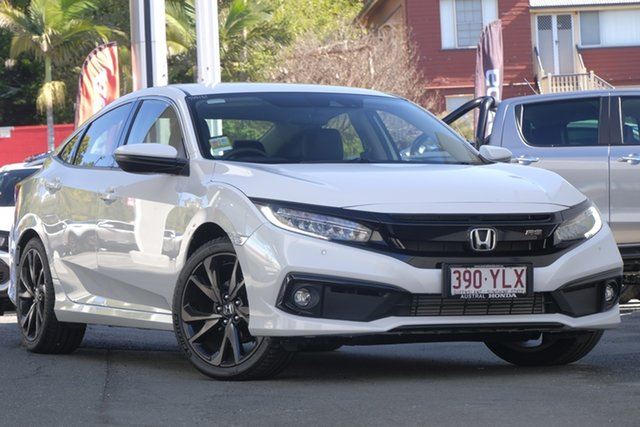 Demo Honda Civic 10th Gen MY19 RS, 2019 Honda Civic 10th Gen MY19 RS Platinum White 1 Speed Constant Variable Sedan