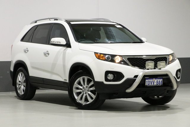 Used Kia Sorento XM MY12 Platinum (4x4), 2012 Kia Sorento XM MY12 Platinum (4x4) White 6 Speed Automatic Wagon