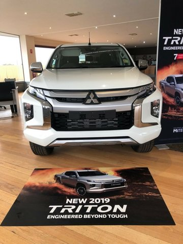 Demo Mitsubishi Triton MR MY19 GLS Double Cab, 2019 Mitsubishi Triton MR MY19 GLS Double Cab White 6 Speed Sports Automatic Utility