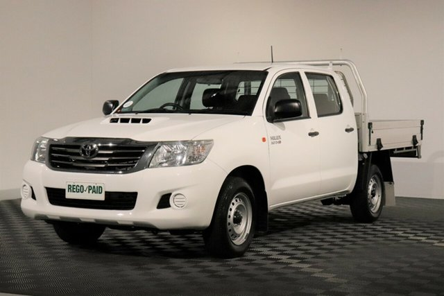 Used Toyota Hilux KUN16R MY14 SR Double Cab 4x2, 2014 Toyota Hilux KUN16R MY14 SR Double Cab 4x2 White 5 Speed Manual Utility
