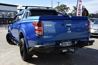 2015 Mitsubishi Triton MQ MY16 Exceed (4x4) Blue 5 Speed Automatic Dual Cab Utility.