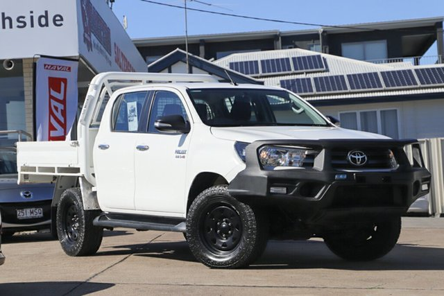 Used Toyota Hilux GUN126R SR Double Cab, 2016 Toyota Hilux GUN126R SR Double Cab White 6 Speed Sports Automatic Cab Chassis