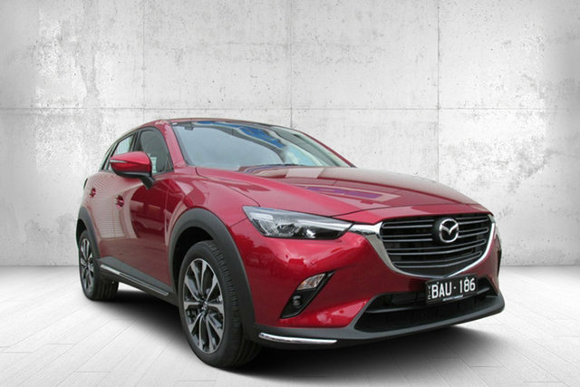 Demo Mazda CX-3 DK2W7A sTouring SKYACTIV-Drive FWD, 2019 Mazda CX-3 DK2W7A sTouring SKYACTIV-Drive FWD Red 6 Speed Sports Automatic Wagon