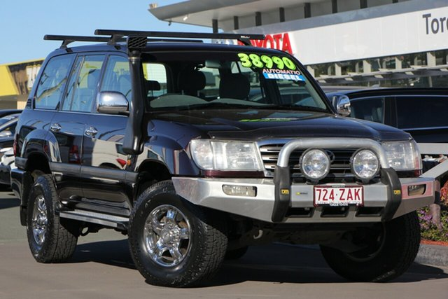 Used Toyota Landcruiser HDJ100R GXL, 2003 Toyota Landcruiser HDJ100R GXL Dark Red 5 Speed Automatic Wagon