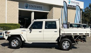 2014 Toyota Landcruiser VDJ79R MY13 GXL Double Cab White 5 Speed Manual Cab Chassis