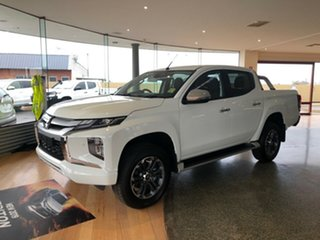 2019 Mitsubishi Triton MR MY19 GLS Double Cab White 6 Speed Sports Automatic Utility