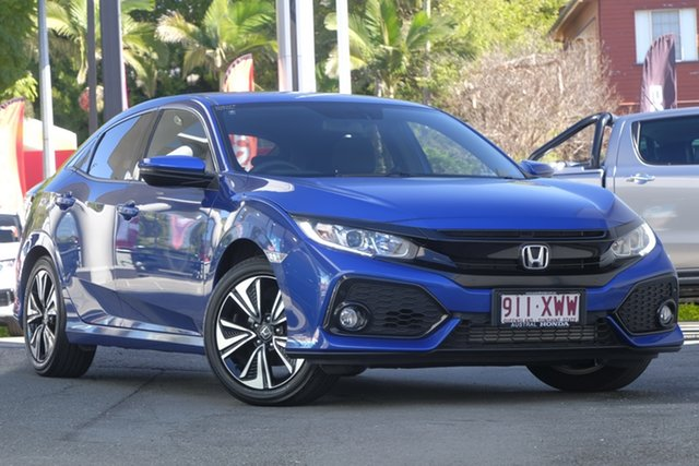 Demo Honda Civic 10th Gen MY18 VTi-L, 2018 Honda Civic 10th Gen MY18 VTi-L Blue 1 Speed Constant Variable Hatchback