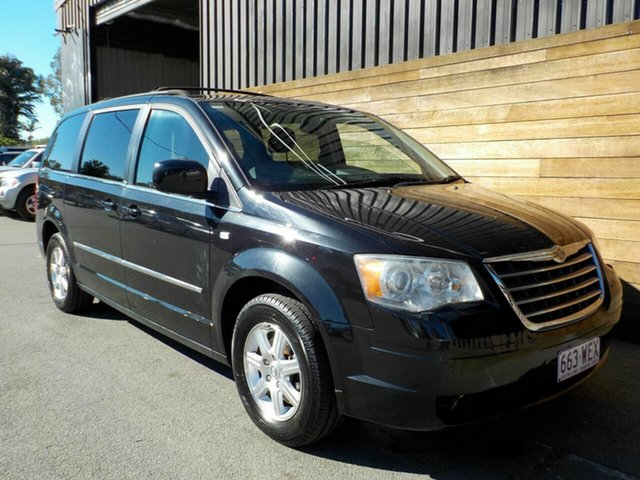 Used Chrysler Grand Voyager RT 5th Gen MY08 Touring, 2009 Chrysler Grand Voyager RT 5th Gen MY08 Touring Black 6 Speed Automatic Wagon