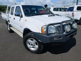2010 Nissan Navara D22 MY08 ST-R (4x4) White 5 Speed Manual Dual Cab Pick-up.