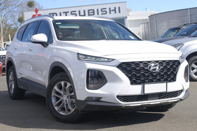 Used Hyundai Santa Fe TM MY19 Active, 2018 Hyundai Santa Fe TM MY19 Active White Cream 8 Speed Sports Automatic Wagon