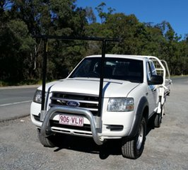 2008 Ford Ranger PJ XL Super Cab 4x2 Hi-Rider White 5 Speed Manual Cab Chassis.