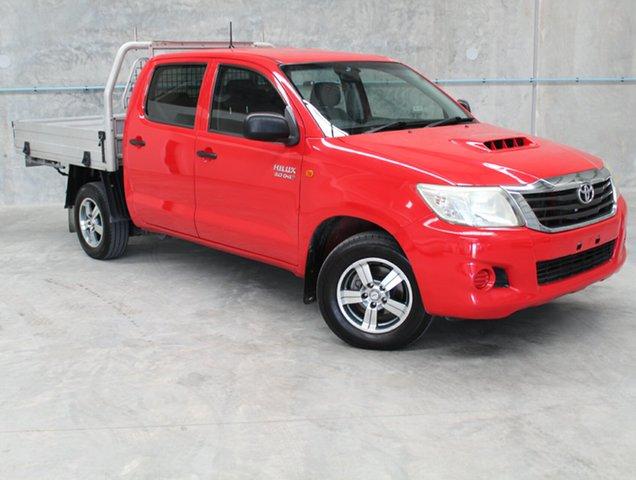 Used Toyota Hilux KUN16R MY12 SR Double Cab 4x2, 2012 Toyota Hilux KUN16R MY12 SR Double Cab 4x2 Red 5 Speed Manual Utility