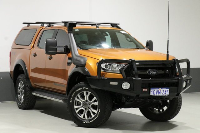 Used Ford Ranger PX MkII Wildtrak 3.2 (4x4), 2015 Ford Ranger PX MkII Wildtrak 3.2 (4x4) Orange 6 Speed Automatic Dual Cab Pick-up