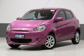 2013 Mitsubishi Mirage LA LS Pink 5 Speed Manual Hatchback.