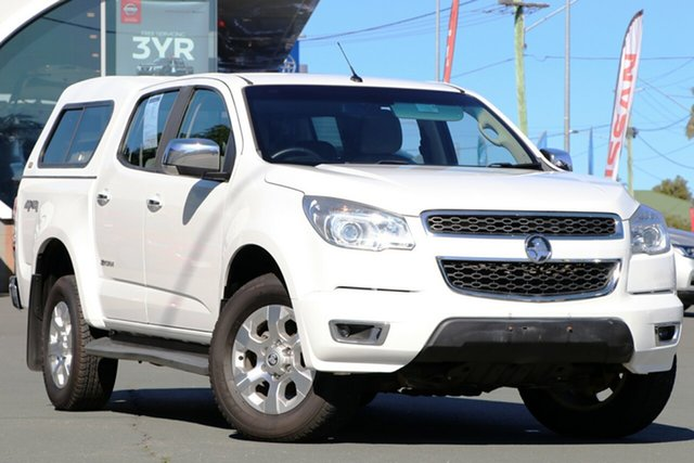 Used Holden Colorado RG MY14 Storm Crew Cab, 2014 Holden Colorado RG MY14 Storm Crew Cab White 6 Speed Manual Utility
