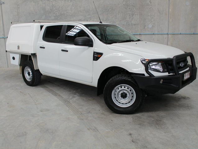 Used Ford Ranger PX XL Double Cab, 2015 Ford Ranger PX XL Double Cab White 6 Speed Sports Automatic Cab Chassis