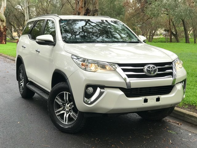 Used Toyota Fortuner GUN156R GXL, 2016 Toyota Fortuner GUN156R GXL Crystal Pearl 6 Speed Automatic Wagon