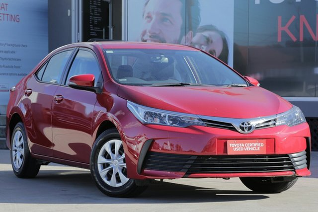 Used Toyota Corolla ZRE172R Ascent, 2017 Toyota Corolla ZRE172R Ascent Red 7 Speed CVT Auto Sequential Sedan