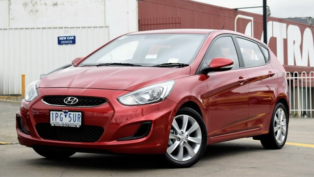 Demo Hyundai Accent RB6 MY18 Sport, 2018 Hyundai Accent RB6 MY18 Sport Pulse Red 6 Speed Sports Automatic Hatchback