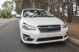 2016 Subaru Impreza G4 MY16 2.0i Lineartronic AWD Premium White 6 Speed Constant Variable Sedan.
