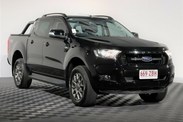 Used Ford Ranger PX MkII 2018.00MY FX4 Double Cab, 2018 Ford Ranger PX MkII 2018.00MY FX4 Double Cab Shadow Black 6 Speed Sports Automatic Utility