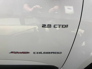 2014 Holden Colorado RG MY14 LX White 6 Speed Manual Dual Cab.