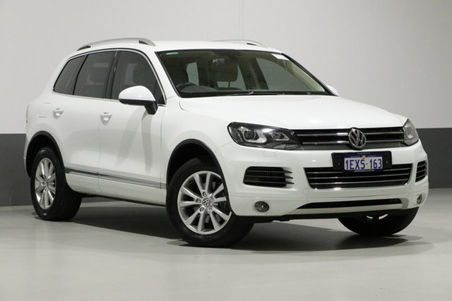 Used Volkswagen Touareg 7P MY13 150 TDI, 2013 Volkswagen Touareg 7P MY13 150 TDI White 8 Speed Automatic Wagon