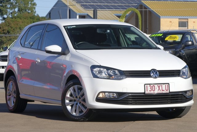 Used Volkswagen Polo 6R MY15 81TSI DSG Comfortline, 2015 Volkswagen Polo 6R MY15 81TSI DSG Comfortline White 7 Speed Sports Automatic Dual Clutch