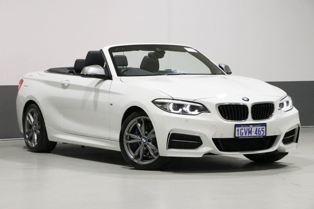 Used BMW M240i F23 MY18 M240I, 2018 BMW M240i F23 MY18 M240I Alpine White 8 Speed Automatic Convertible