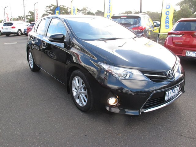 Used Toyota Corolla ZRE182R Ascent, 2013 Toyota Corolla ZRE182R Ascent Black 7 Speed Continuous Variable Hatchback
