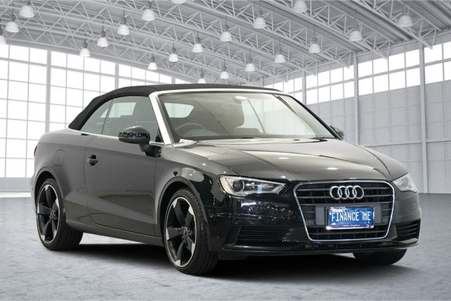 Used Audi A3 8V MY15 Ambition S Tronic Quattro, 2014 Audi A3 8V MY15 Ambition S Tronic Quattro Black 6 Speed Sports Automatic Dual Clutch Cabriolet