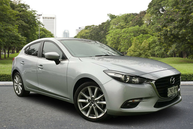 Demo Mazda 3 BN5438 SP25 SKYACTIV-Drive, 2018 Mazda 3 BN5438 SP25 SKYACTIV-Drive Sonic Silver 6 Speed Sports Automatic Hatchback