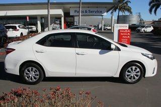 2016 Toyota Corolla ZRE172R Ascent S-CVT Glacier White 7 Speed Constant Variable Sedan.