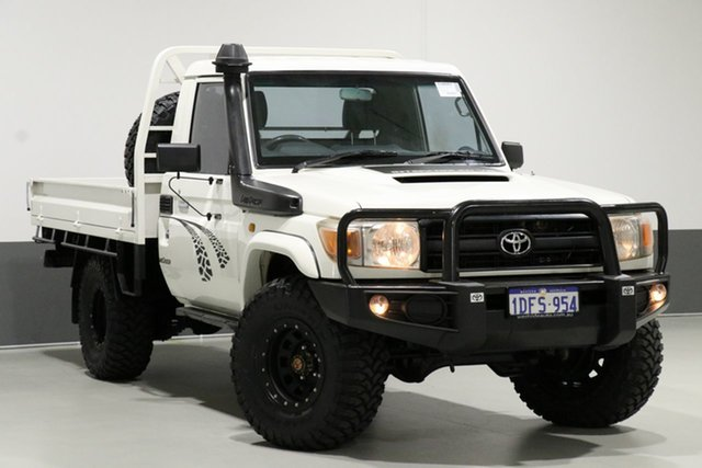 Used Toyota Landcruiser VDJ79R Workmate (4x4), 2009 Toyota Landcruiser VDJ79R Workmate (4x4) White 5 Speed Manual Cab Chassis