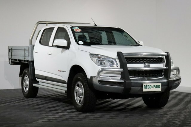 Used Holden Colorado RG MY16 LS Crew Cab, 2016 Holden Colorado RG MY16 LS Crew Cab Summit White 6 Speed Manual Cab Chassis