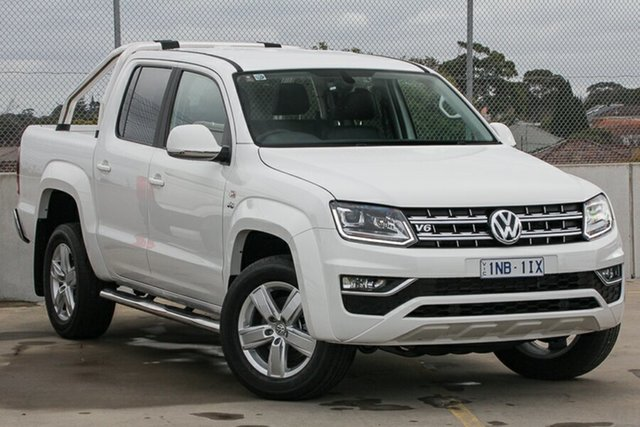 Demo Volkswagen Amarok 2H MY19 TDI550 4MOTION Perm Highline, 2019 Volkswagen Amarok 2H MY19 TDI550 4MOTION Perm Highline Candy White 8 Speed Automatic Utility