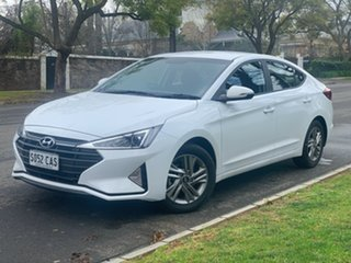 2019 Hyundai Elantra Polar White Automatic Sedan.