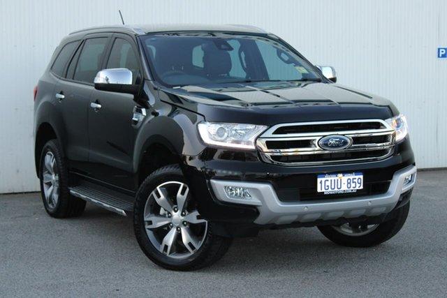 Demo Ford Everest UA 2018.00MY Titanium, 2018 Ford Everest UA 2018.00MY Titanium Black 6 Speed Sports Automatic Wagon