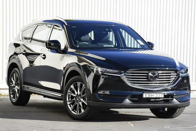 Demo Mazda CX-8 KG4W2A Asaki SKYACTIV-Drive i-ACTIV AWD, 2019 Mazda CX-8 ASAKI Asaki SKYACTIV-Drive i-ACTIV AWD Black 6 Speed Automatic Wagon