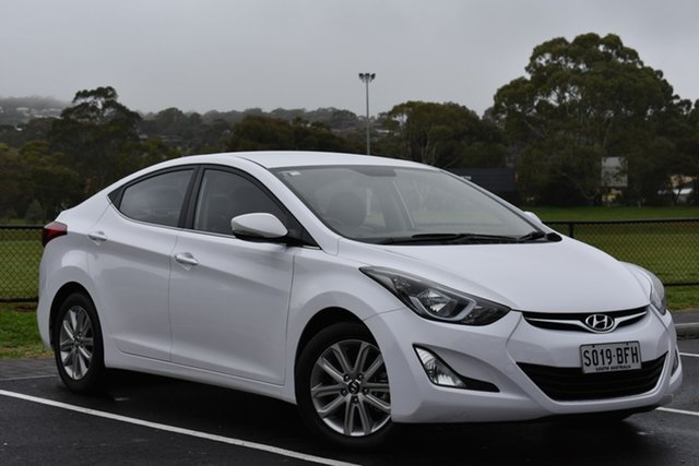 Used Hyundai Elantra MD3 SE, 2015 Hyundai Elantra MD3 SE White 6 Speed Manual Sedan