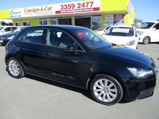 Used Audi A1 8X MY14 Attraction Sportback, 2013 Audi A1 8X MY14 Attraction Sportback Black 5 Speed Manual Hatchback