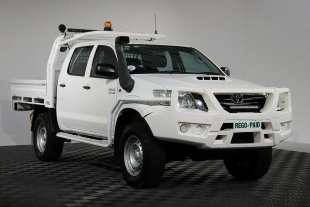 Used Toyota Hilux KUN26R MY12 SR Double Cab, 2013 Toyota Hilux KUN26R MY12 SR Double Cab Glacier 4 Speed Automatic Utility