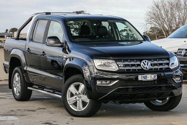 Demo Volkswagen Amarok 2H MY19 TDI550 4MOTION Perm Highline, 2019 Volkswagen Amarok 2H MY19 TDI550 4MOTION Perm Highline Deep Black Pearl Effect 8 Speed
