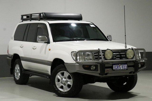 Used Toyota Landcruiser UZJ100R Sahara (4x4), 2004 Toyota Landcruiser UZJ100R Sahara (4x4) White 5 Speed Automatic Wagon