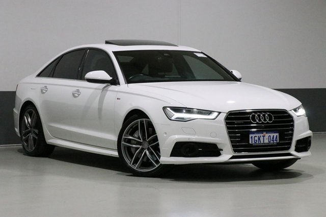 Used Audi A6 4GL MY17 3.0 TDI Biturbo Quattro, 2017 Audi A6 4GL MY17 3.0 TDI Biturbo Quattro White 8 Speed Automatic Tiptronic Sedan
